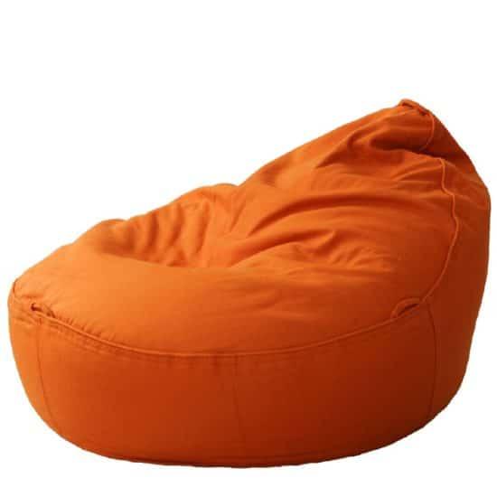 orthopädisches Hundebett für kleine Hunde mit Dinkelfüllung Canvas Baumwolle orange eiförmig