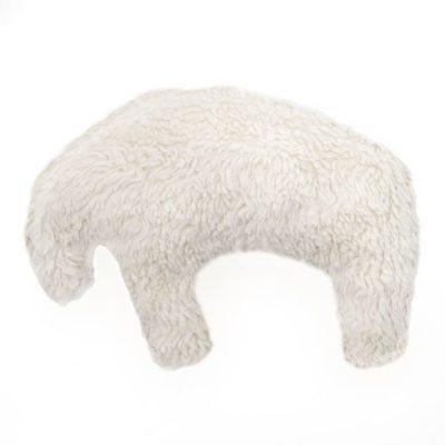 Eisbär als Kuschelspielzeug Hundespielzeug Plüsch für kleinere Hunde oder Welpen aus kuscheligem Teddyplüsch in creme