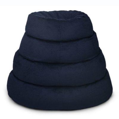 ergonomisches Katzenbett mit natürlich aus Bio Baumwolle Cord mit ökologischer Dinkelfüllung für Muskelentspannung