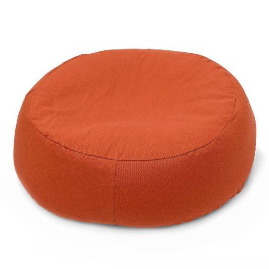 ovales ergonomisches Katzenbett gegen Arthrose mit ökologischer Dinkelfüllung in Orange