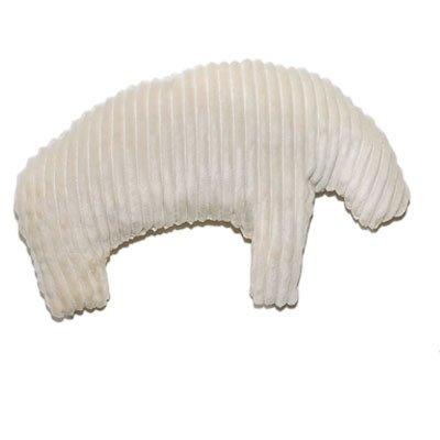 Kuscheltier für Hunde Hundespielzeug kleiner Eisbär mit Dinkel gefüllt aus Baumwoll Breitcord in beige ökologisch nachhaltig