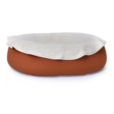 Katzen Kuscheldecke oval aus ökologischem Baumwoll Teddypluesch waschbar