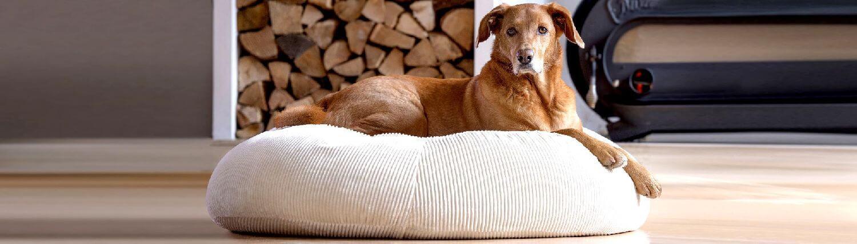orthopädische Hundekissen Hundebetten oval gegen Arthrose aus ökologischen Materialien