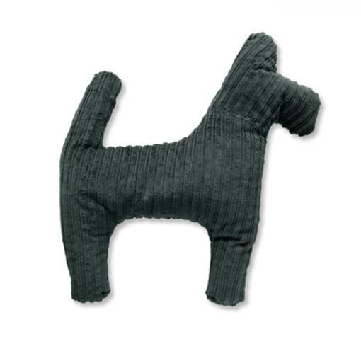 ökologisches Stofftier Kuscheltier für Hunde aus GOTS Cord Baumwolle Nordlicht-Grau mit unbedenklicher Bio Füllung Hund