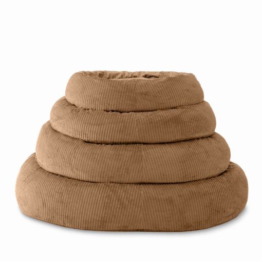 ergonomisches Hundebett Katzenbett natürlich aus Bio Baumwolle Cord mit ökologischer Dinkelfüllung für Muskelentspannung
